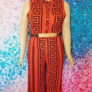 Pants - NWOT Orange Print Jumpsuit